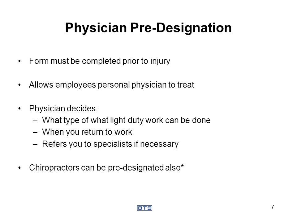 Physician Pre-Designation