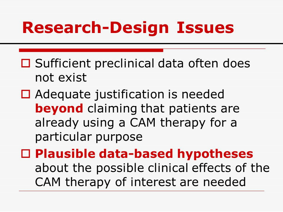 Research-Design Issues