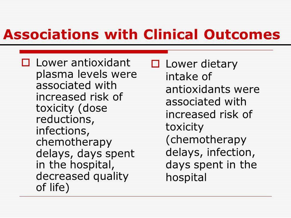 Associations with Clinical Outcomes