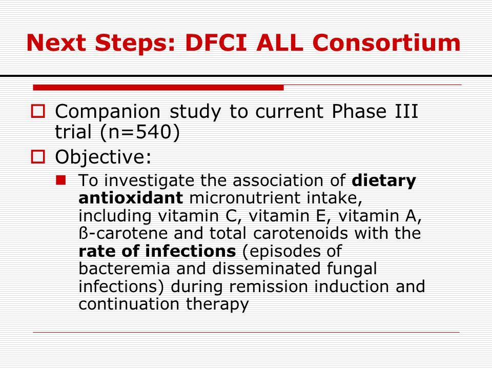 Next Steps: DFCI ALL Consortium