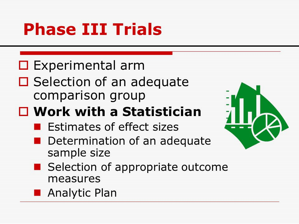 Phase III Trials Experimental arm