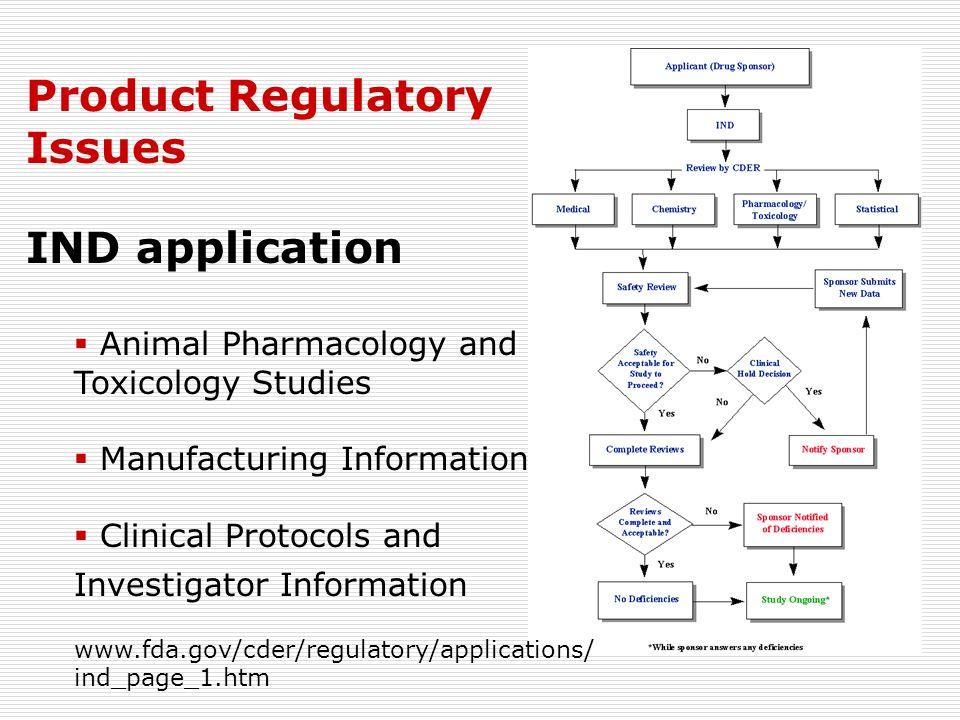 Product Regulatory Issues