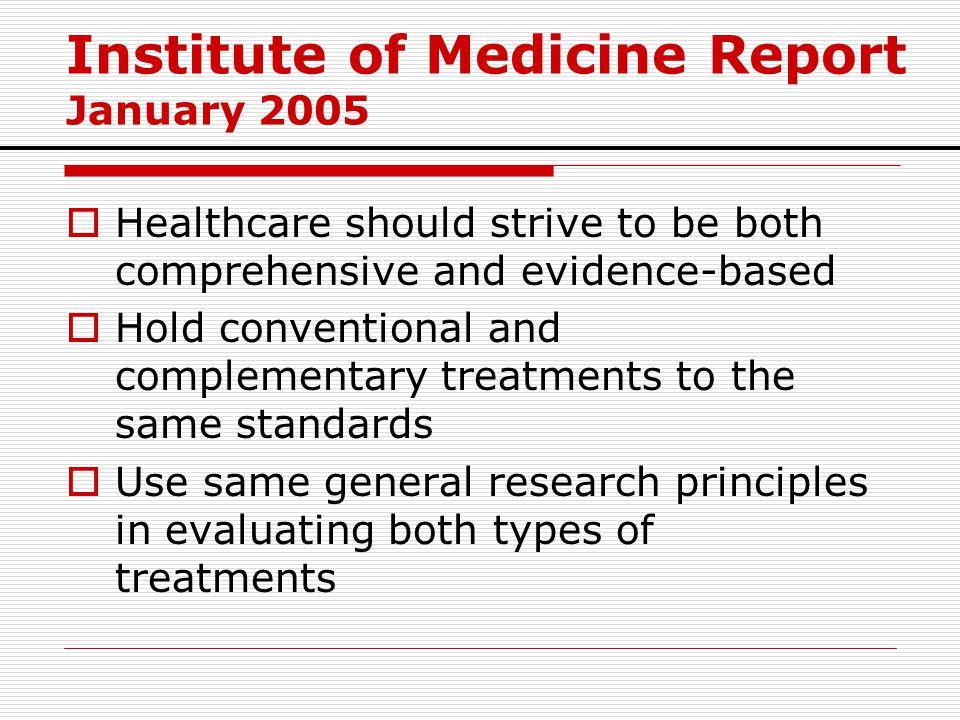 Institute of Medicine Report January 2005