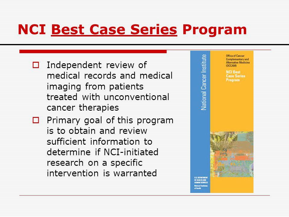 NCI Best Case Series Program