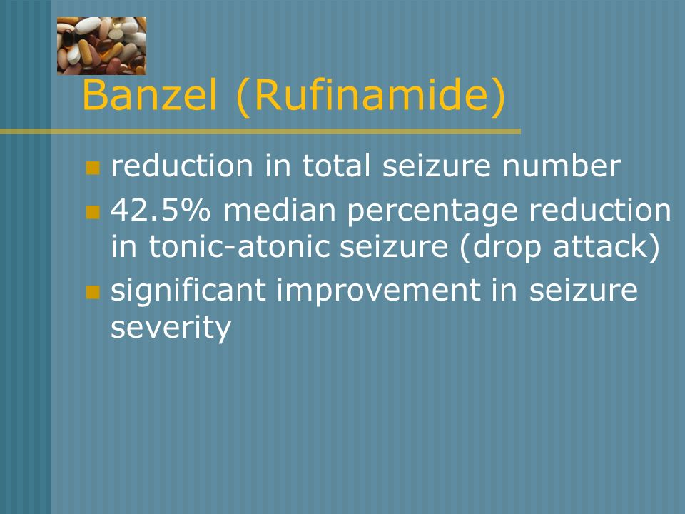 Banzel (Rufinamide) reduction in total seizure number