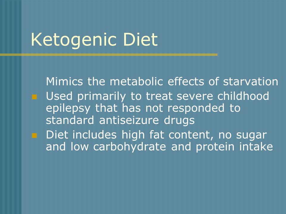 Ketogenic Diet Mimics the metabolic effects of starvation