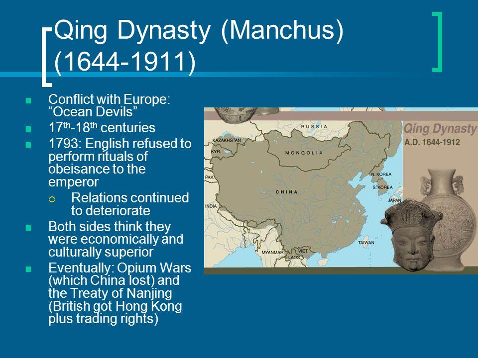 Qing Dynasty (Manchus) (1644-1911)