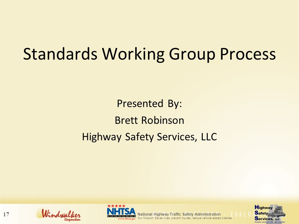 Standards Working Group Process