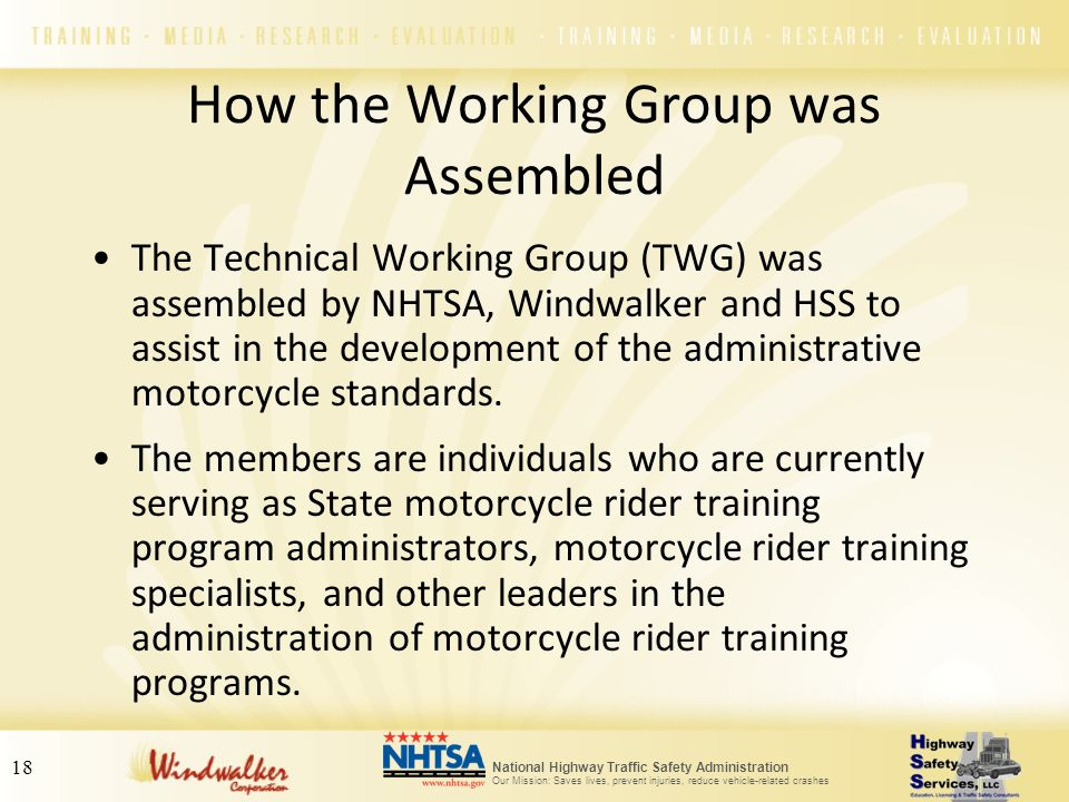 How the Working Group was Assembled