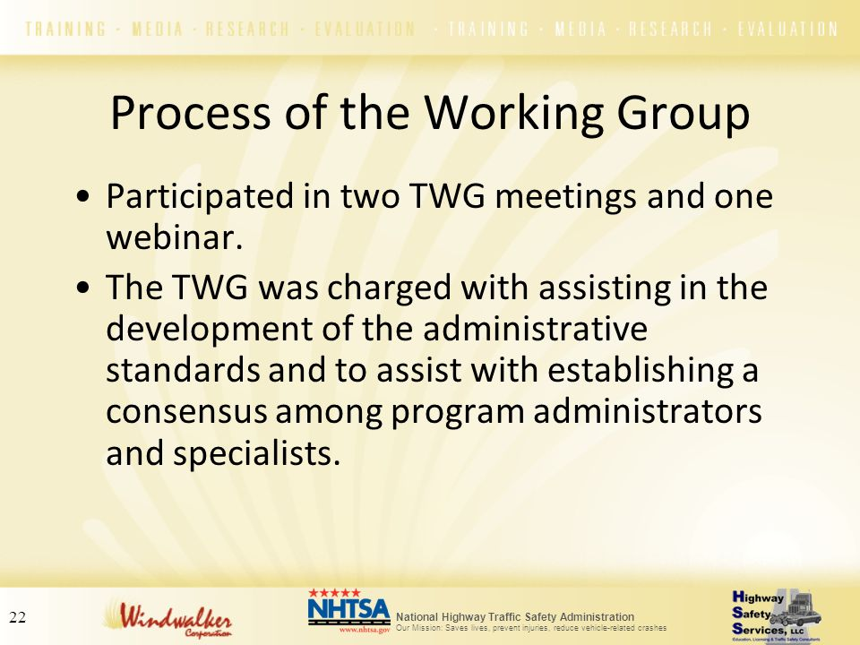Process of the Working Group