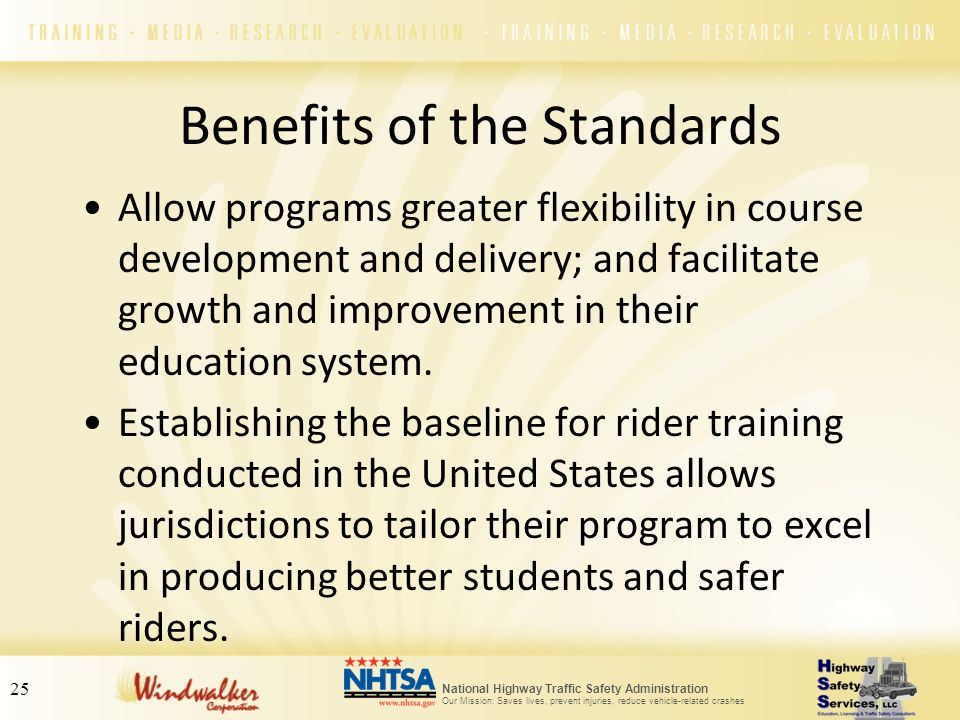 Benefits of the Standards