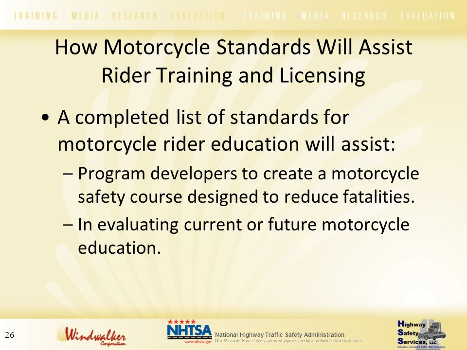 How Motorcycle Standards Will Assist Rider Training and Licensing