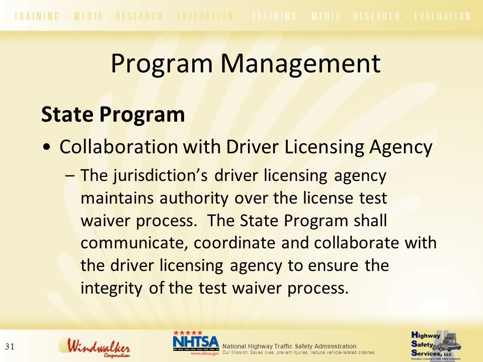 Program Management State Program