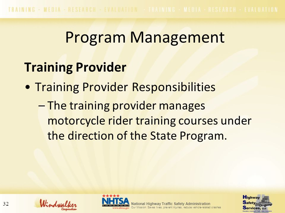 Program Management Training Provider