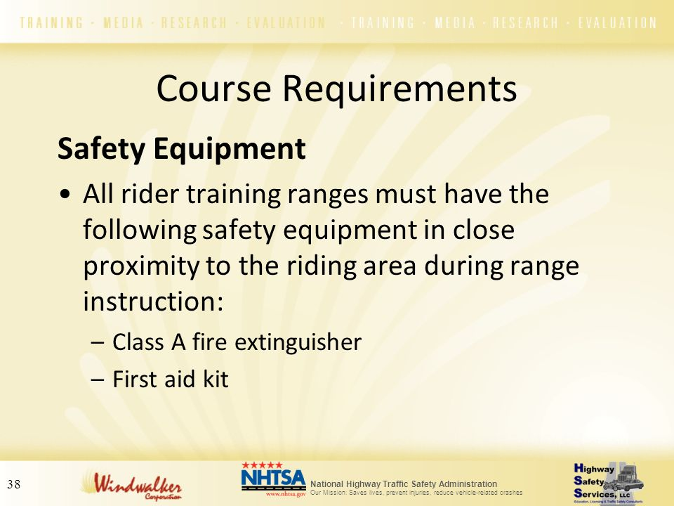 Course Requirements Safety Equipment