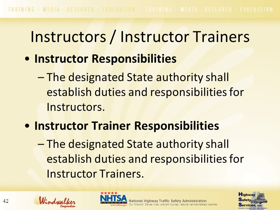 Instructors / Instructor Trainers