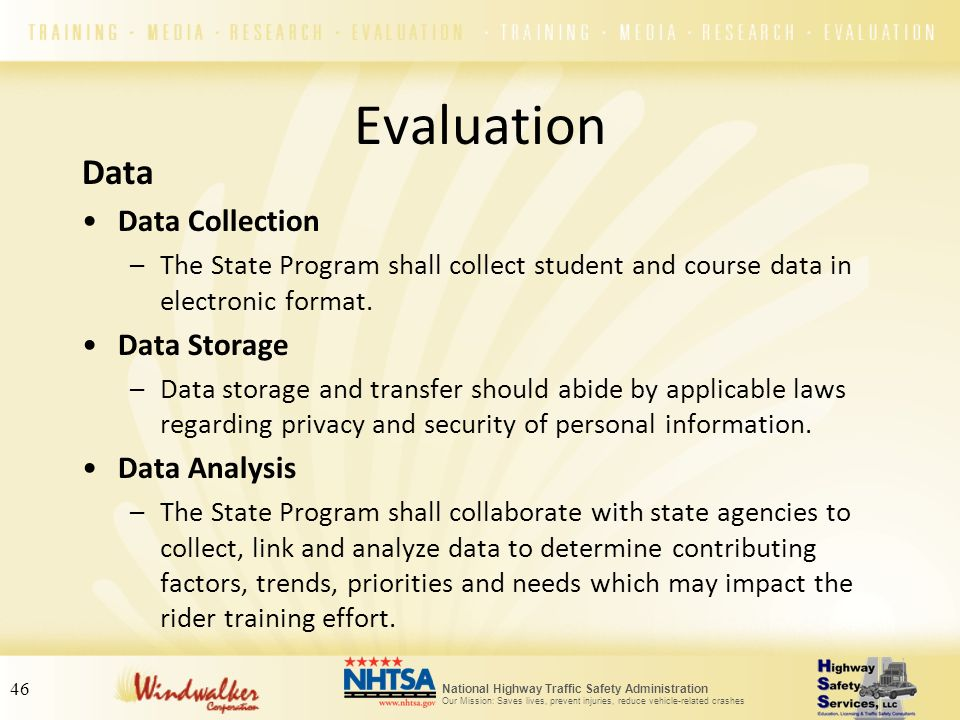 Evaluation Data Data Collection Data Storage Data Analysis