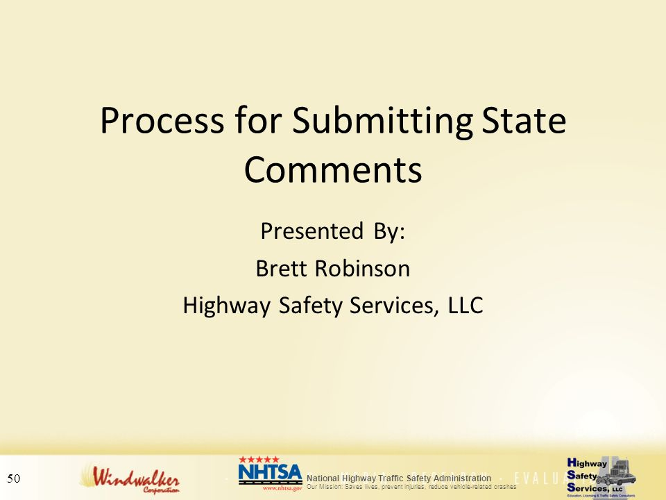 Process for Submitting State Comments