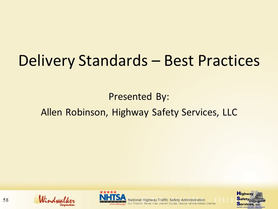 Delivery Standards – Best Practices