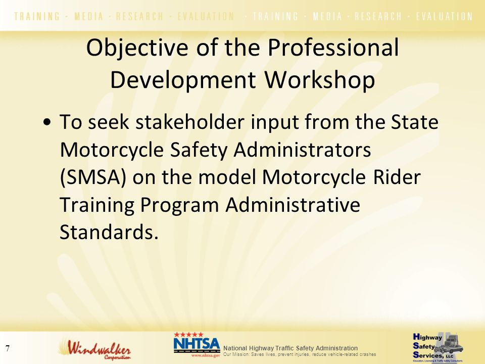 Objective of the Professional Development Workshop