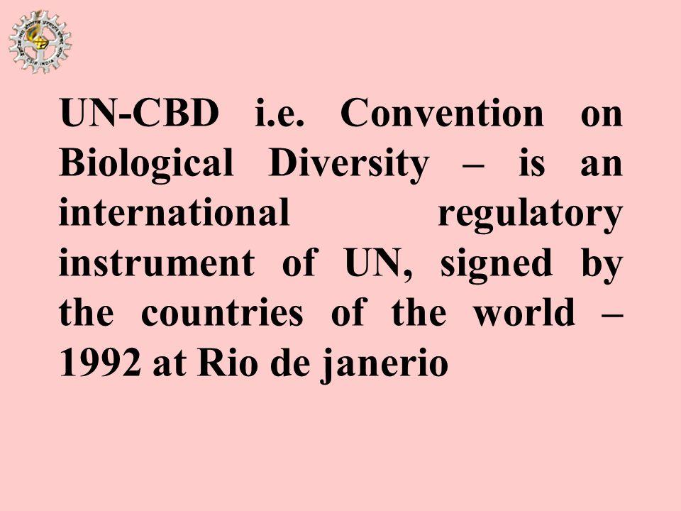 UN-CBD i.e.