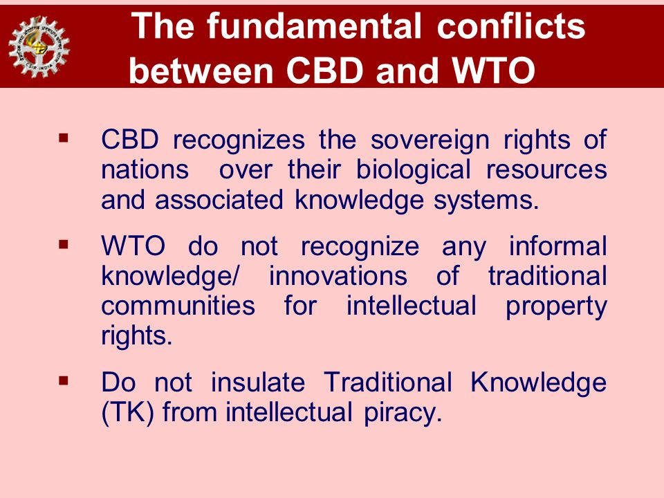 The fundamental conflicts between CBD and WTO