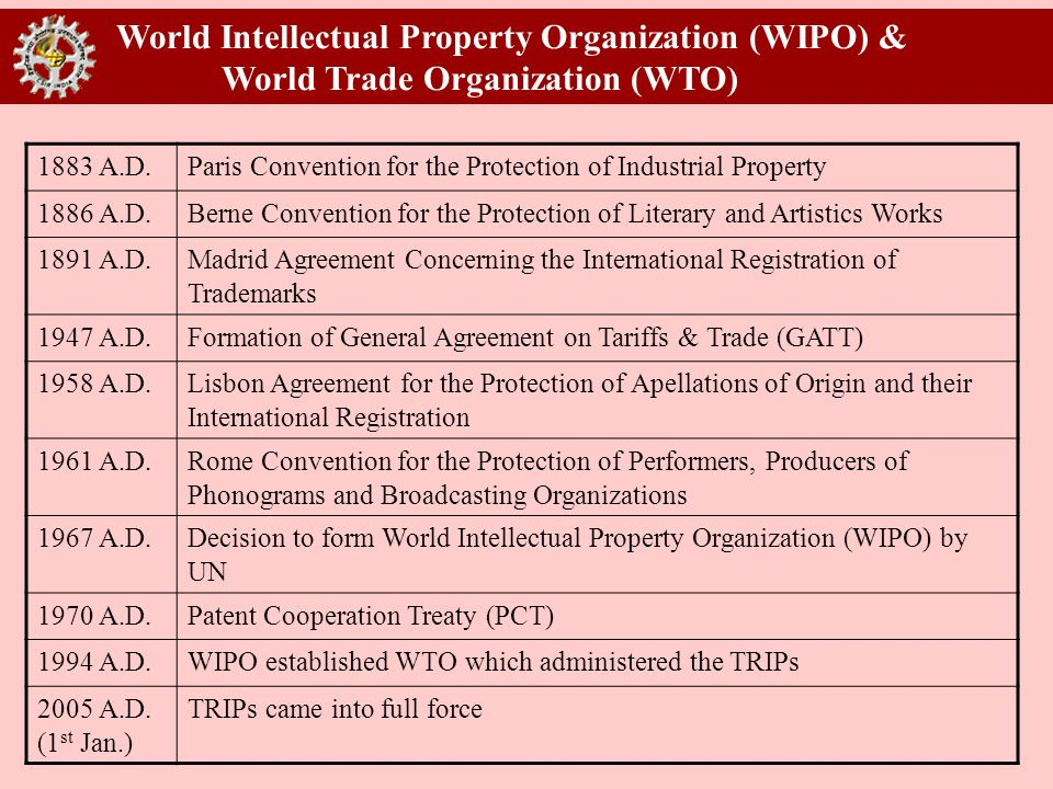 World Intellectual Property Organization (WIPO) &