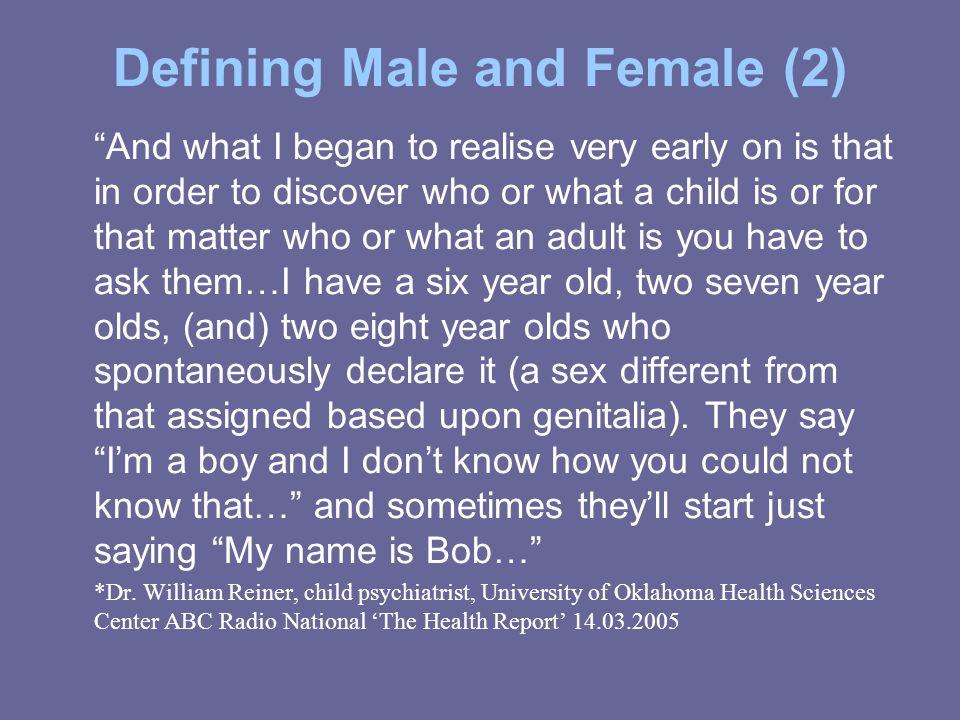 Defining Male and Female (2)
