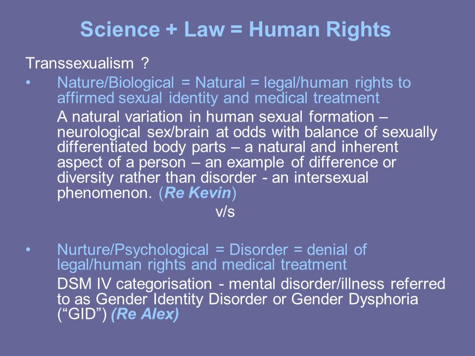Science + Law = Human Rights