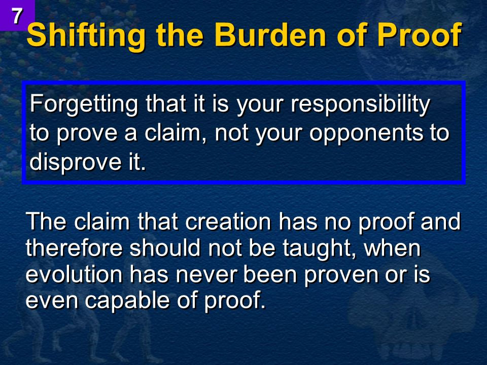 Shifting the Burden of Proof