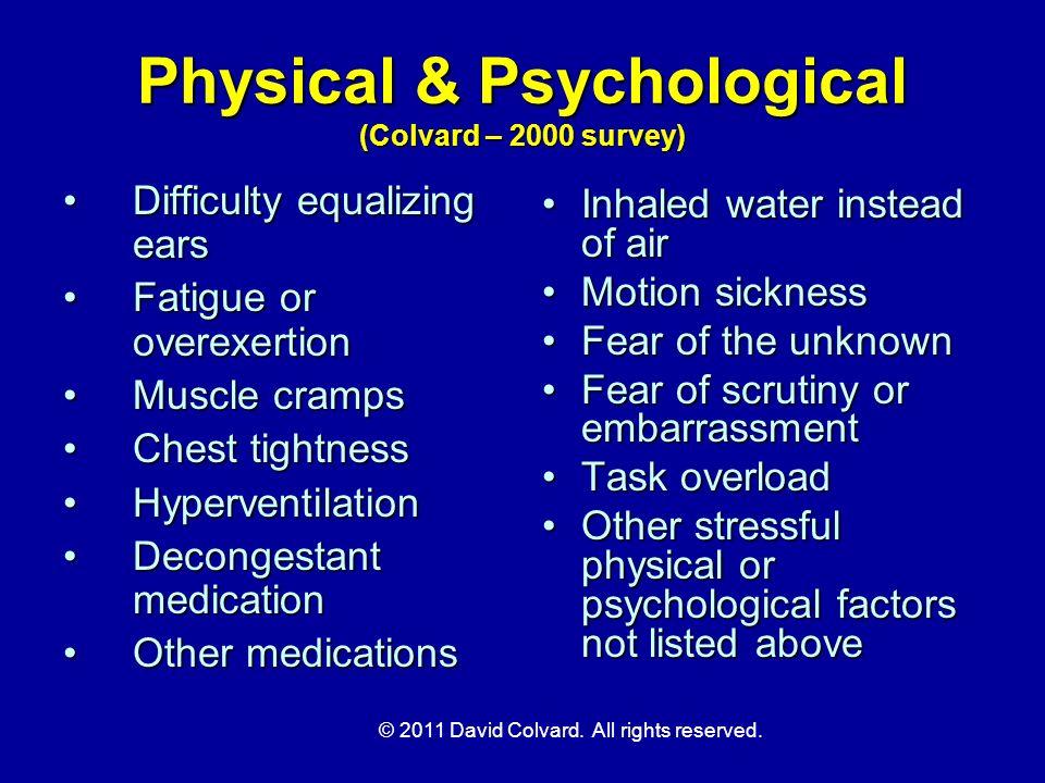 Physical & Psychological (Colvard – 2000 survey)