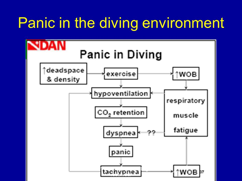 Panic in the diving environment