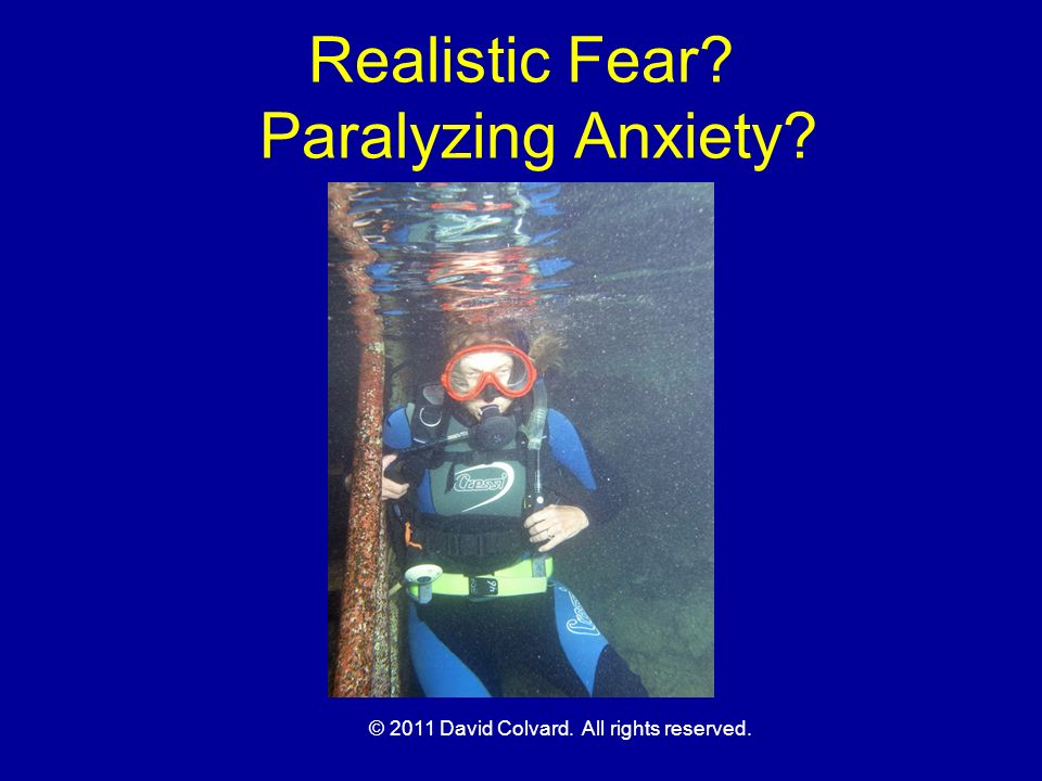 Realistic Fear Paralyzing Anxiety
