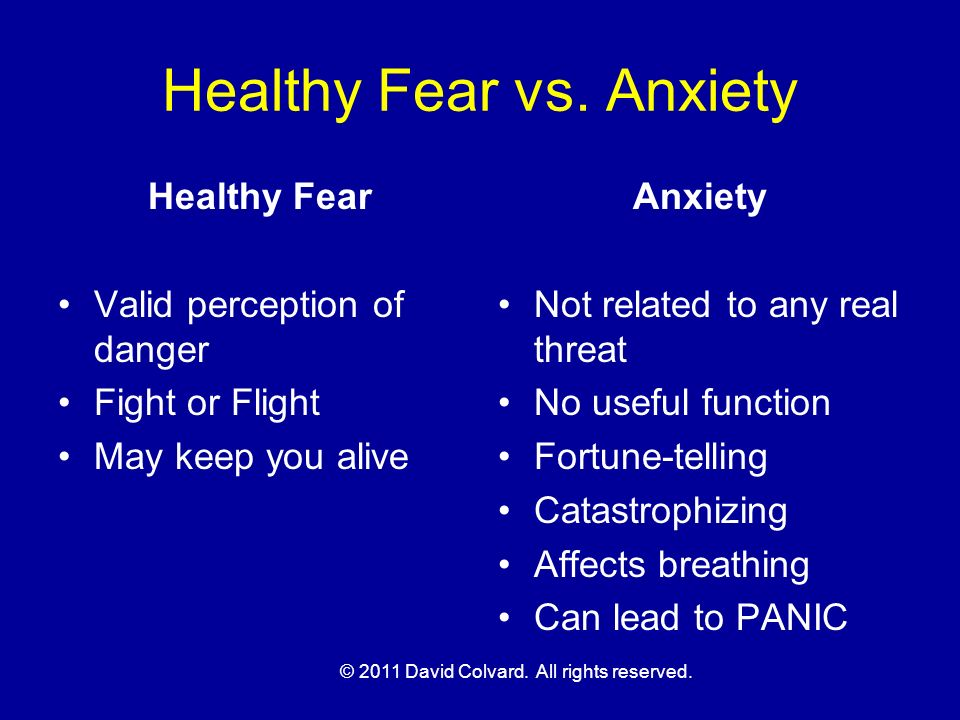 Healthy Fear vs. Anxiety