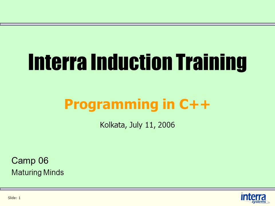 Interra Induction Training