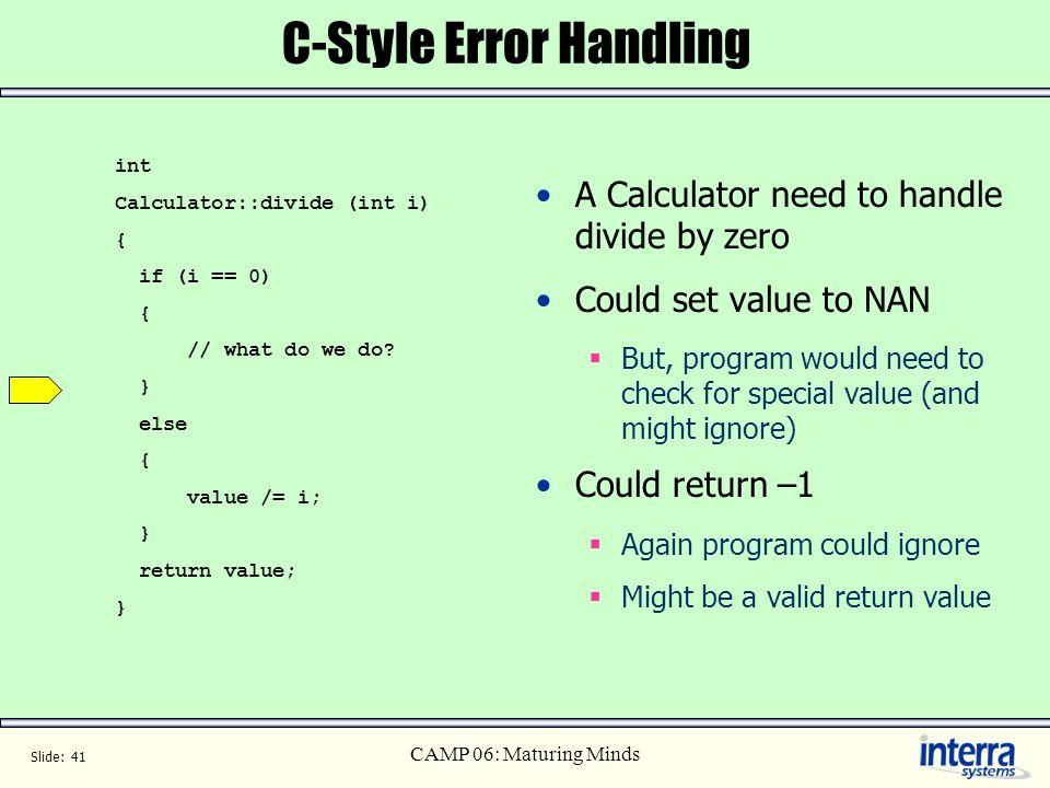 C-Style Error Handling