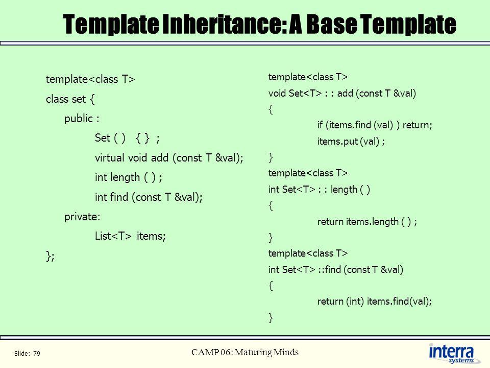 Template Inheritance: A Base Template