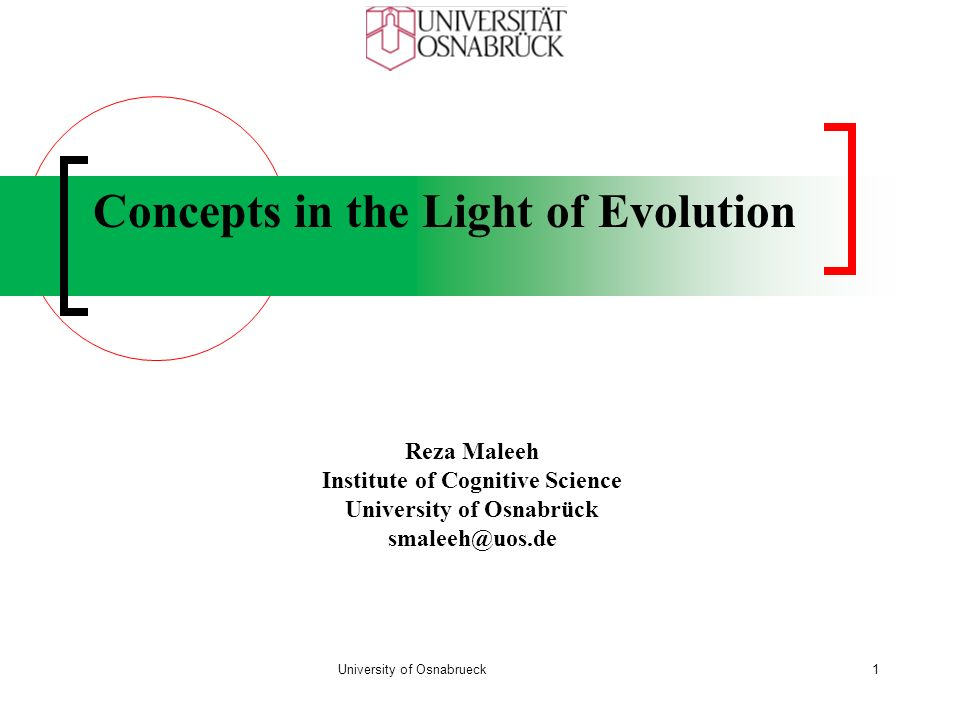 Concepts in the Light of Evolution