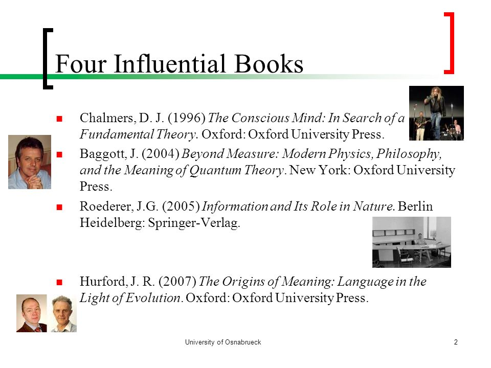 Four Influential Books