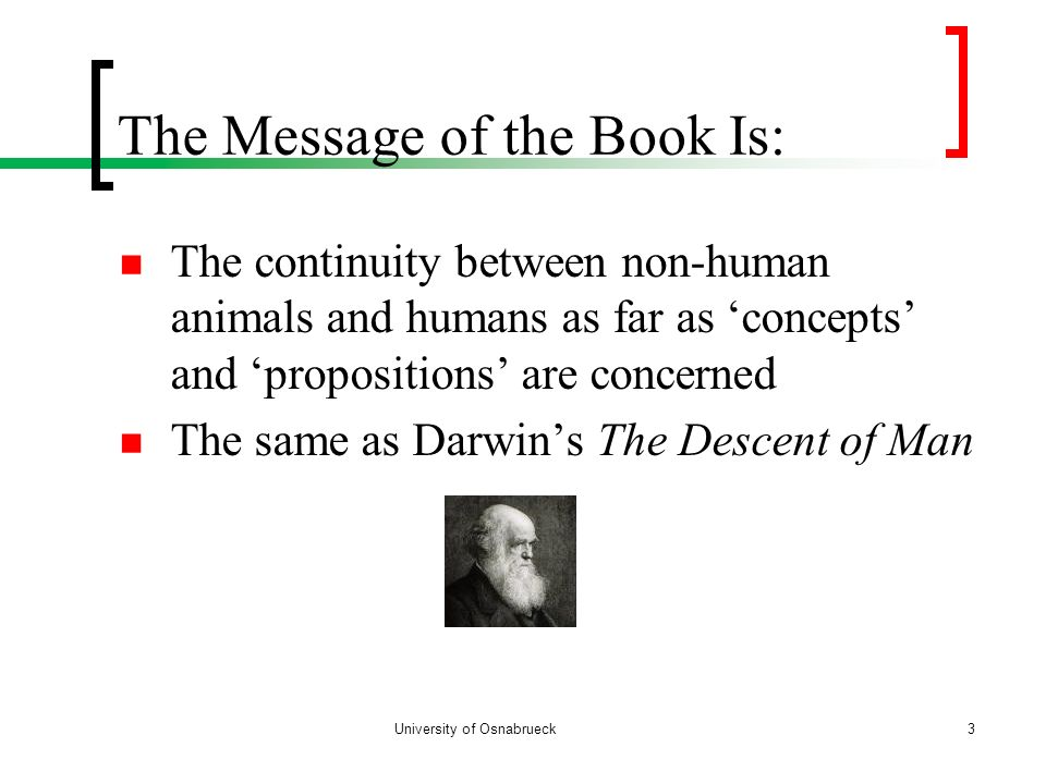The Message of the Book Is: