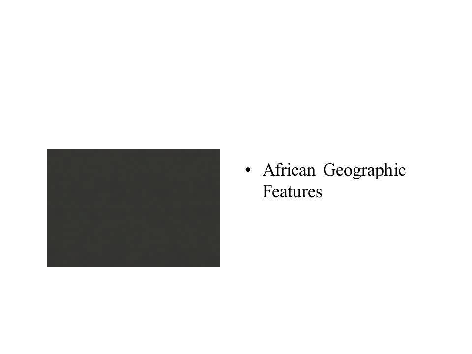 African Geographic Features