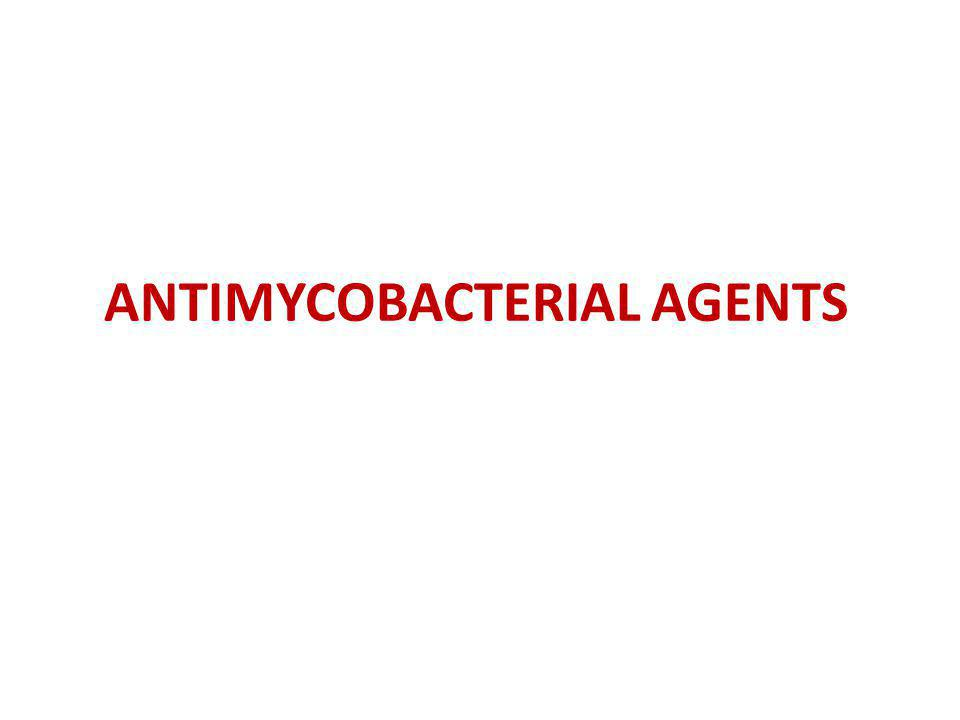 ANTIMYCOBACTERIAL AGENTS