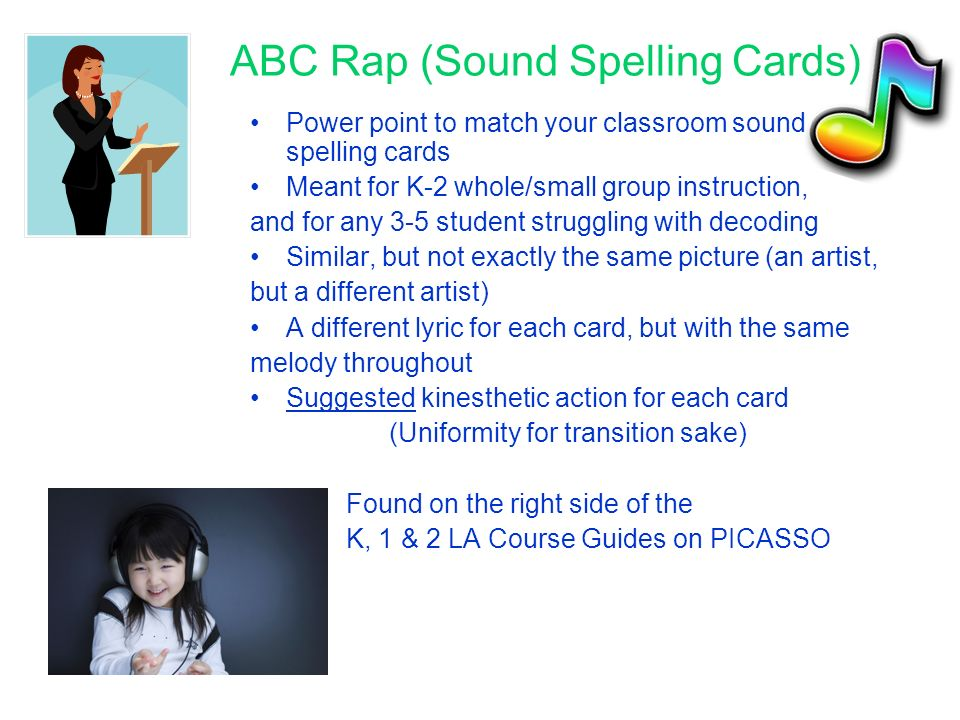 ABC Rap (Sound Spelling Cards)