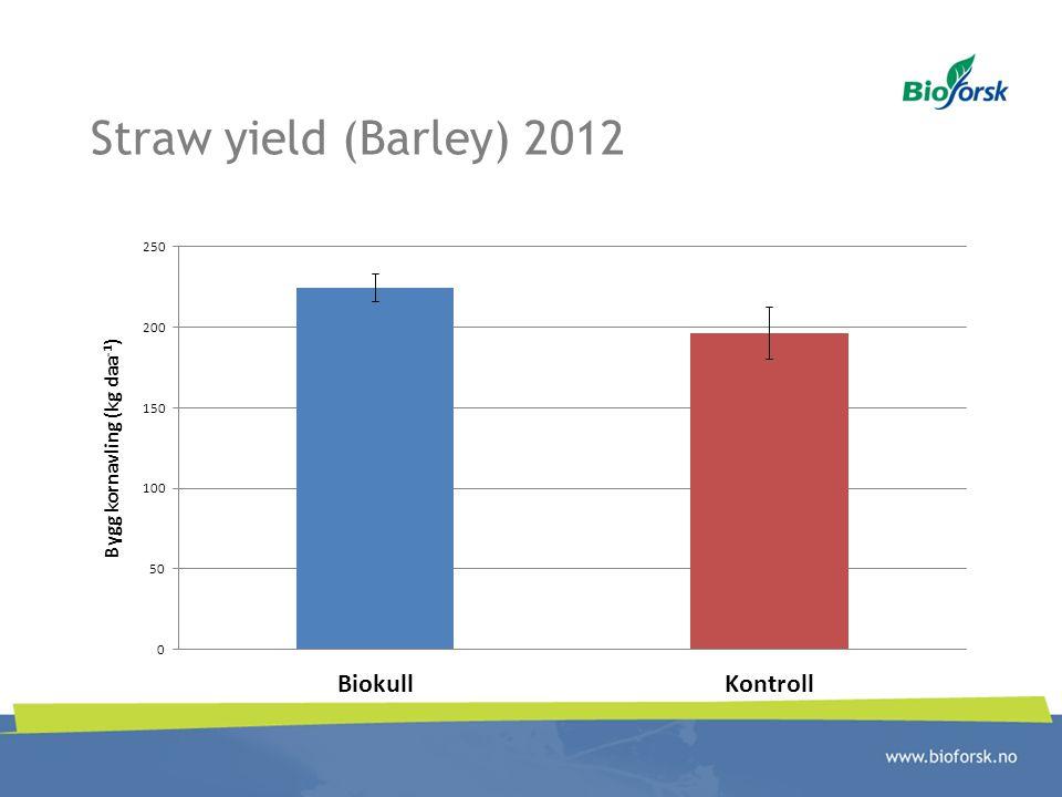 Straw yield (Barley) 2012