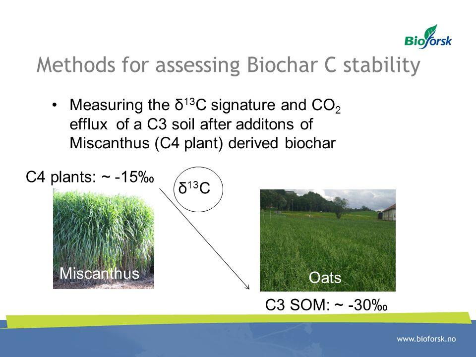 Methods for assessing Biochar C stability