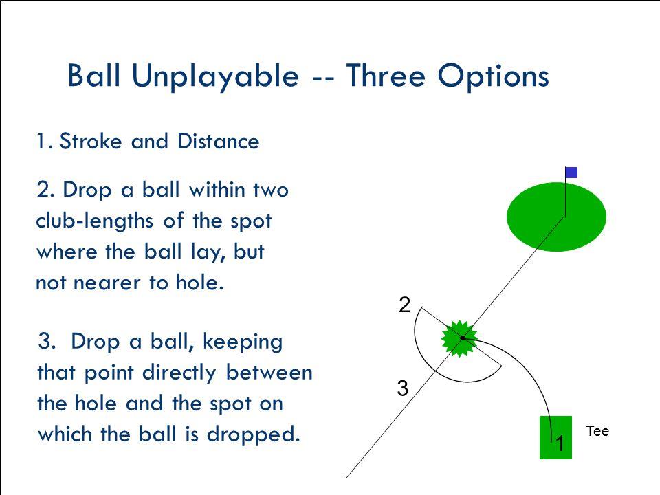 Ball Unplayable -- Three Options