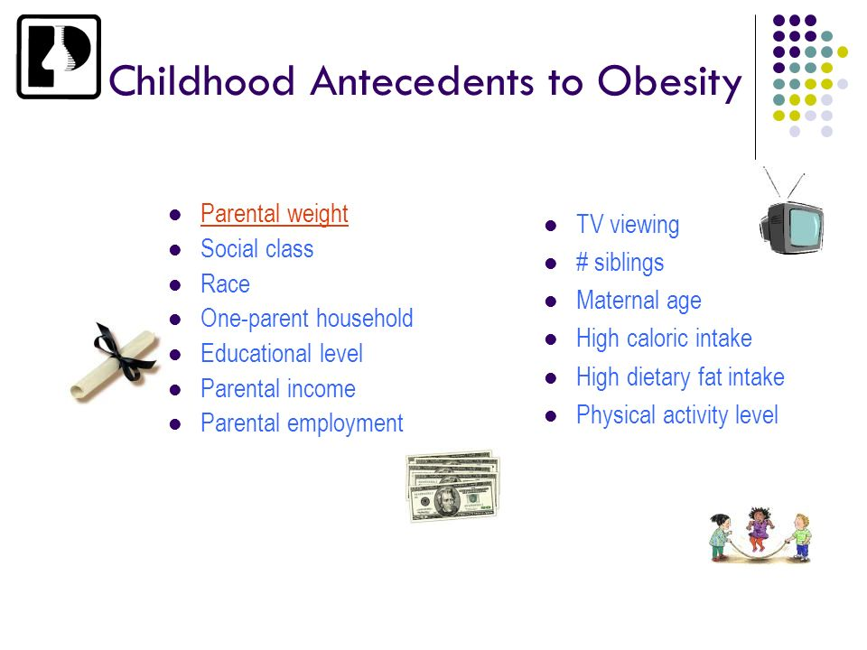 Childhood Antecedents to Obesity
