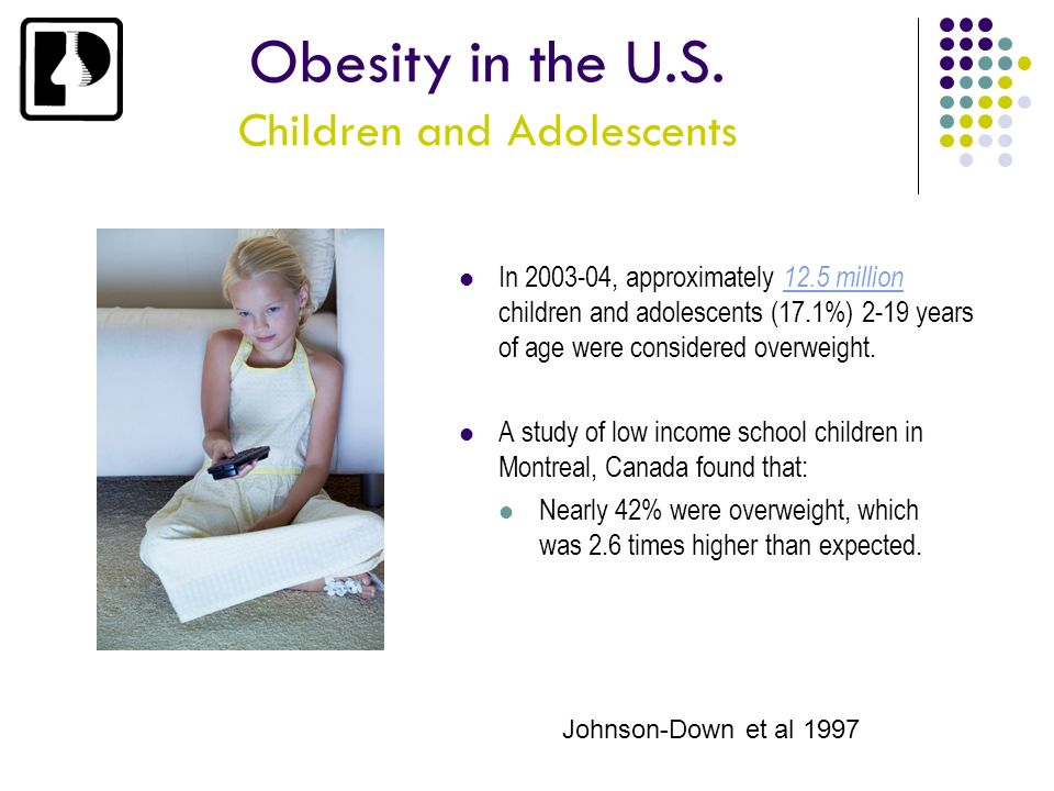 Obesity in the U.S. Children and Adolescents