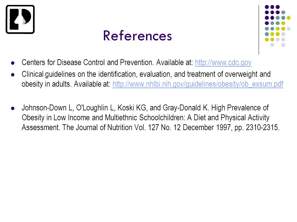 ReferencesCenters for Disease Control and Prevention. Available at: http://www.cdc.gov.