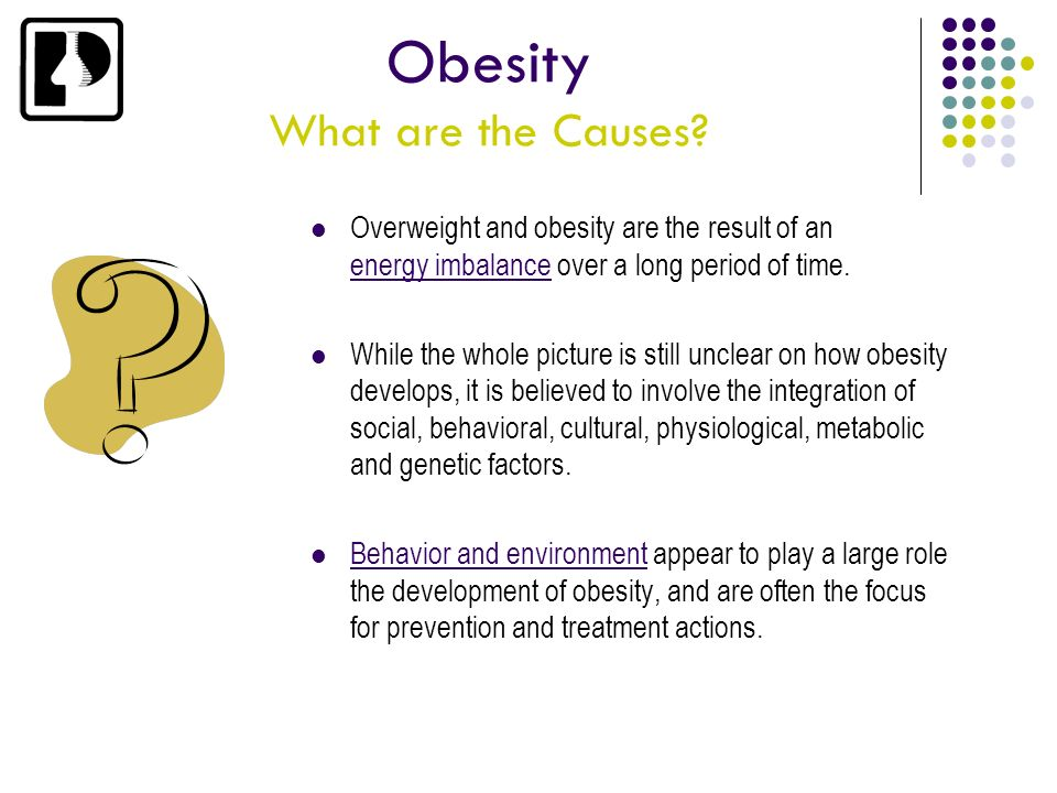Obesity What are the Causes